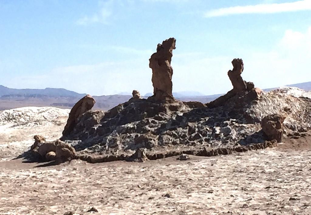 Natural Salt Sculptures, Atacama Desert, Chile photo by Lawrence Wade