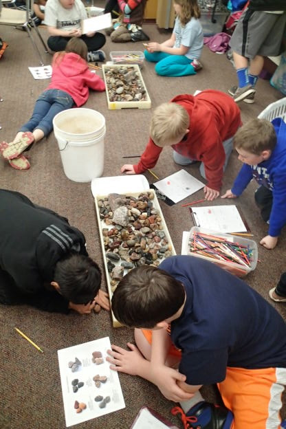 4th Grade Glacial Rocks Lab